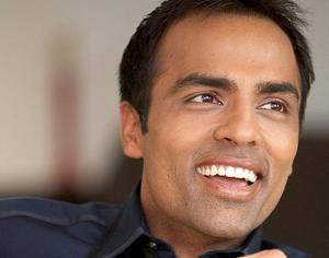 "Gurbaksch Chahal says, ""Yay, I win!!"""